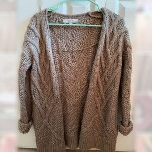 Loft Brown Knit Cardigan